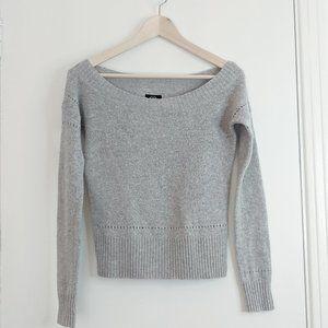 American Eagle grey boat neck sweater